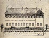 Old East Dormitory, sketch by John Pettigrew, 1797